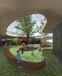 Amesterdam Children's Playschool, Pátio Interior