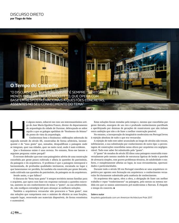Revista Rua: O Tempo doConserto