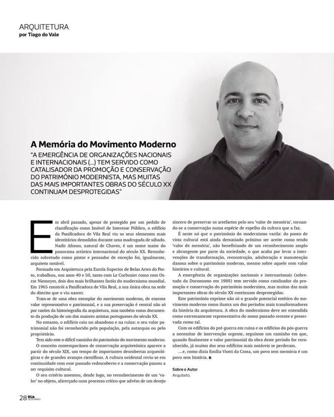 Revista Rua: A Memória do MovimentoModerno