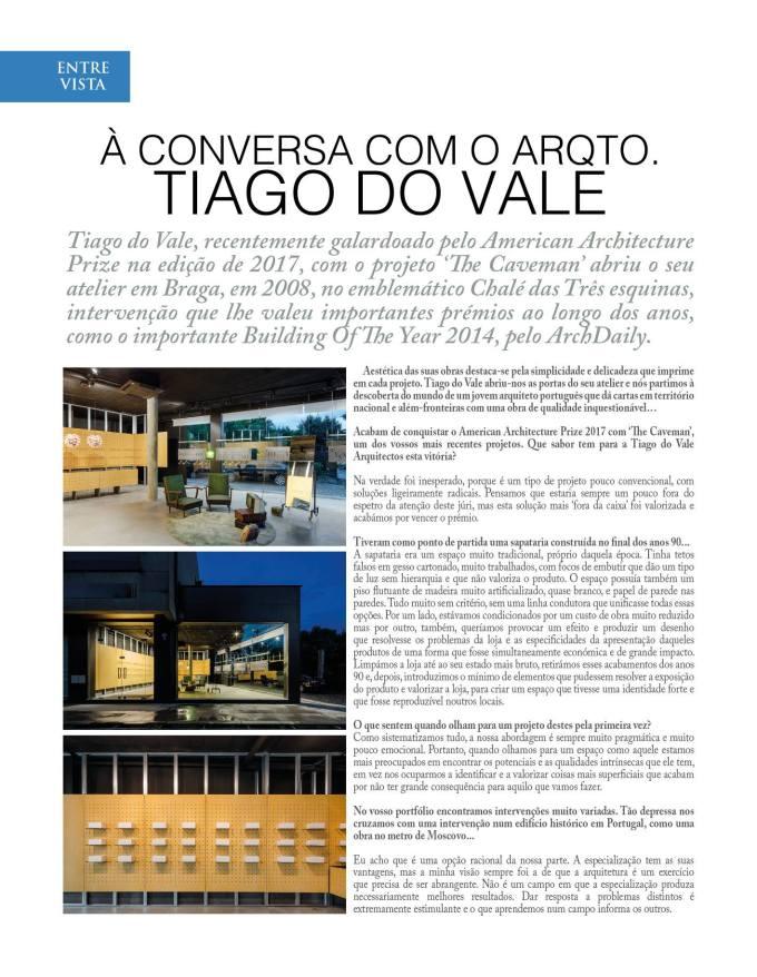 Revista Spot: À Conversa com o Arq.to Tiago doVale