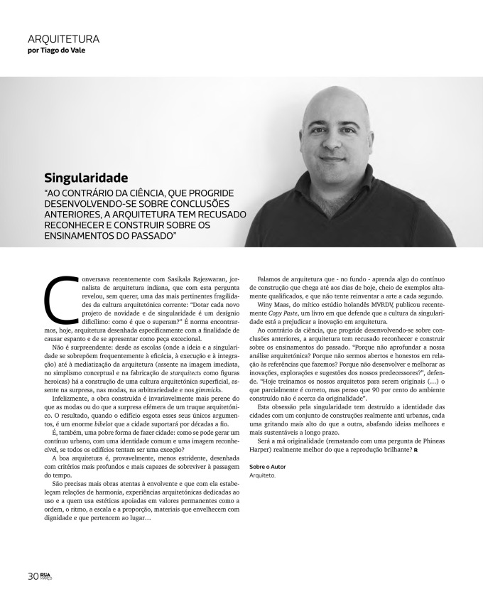 Revista RUA: Singularidade