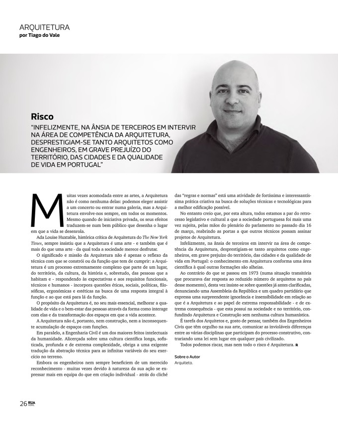 Revista RUA: Risco
