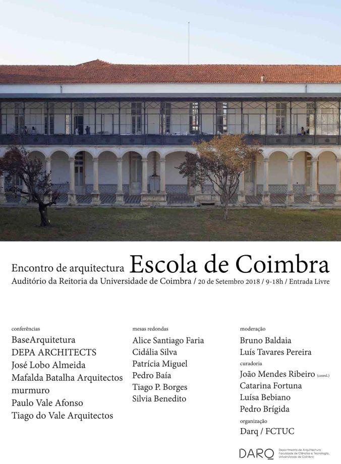 Encontro de Arquitectura, Escola de Coimbra 2018
