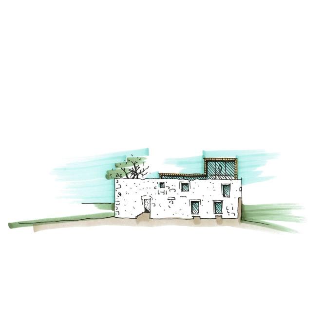 Casa da Rua das Caldas, Esquisso