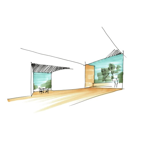 Casa da Rua das Oliveiras, Esquisso